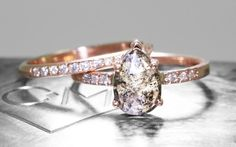 1.42 Carat Champagne and Pepper Diamond Ring in Rose Gold - CHINCHAR•MALONEY