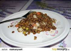 Čočkový salát s Moravankou recept - TopRecepty.cz Cereal, Oatmeal, Grains, Beef, Breakfast, The Oatmeal, Meat, Morning Coffee, Rolled Oats