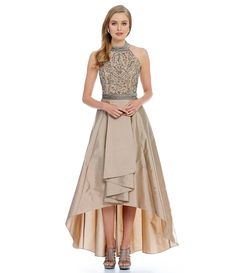 Shop for Adrianna Papell Beaded Halter Hi Low Gown at Dillards.com. Visit Dillards.com to find clothing, accessories, shoes, cosmetics & more. The Style of Your Life.
