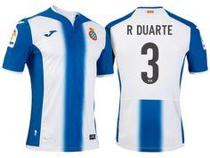 RCD Espanyol #3 Ruben Duarte 2016-17 Home Jersey