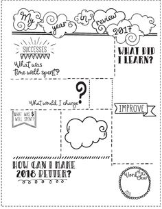 Download free year in review and goal planner insert for Happy Planner, Erin Condren (ECLP) and more. Free and Functional planner sticker printables. See more at www.pinkpixelgraphics.com
