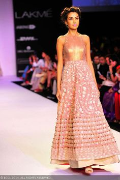 Pink anarkali by Jade Collection of Lakme Fashion Week (LFW) Summer Resort 2014