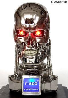 Terminator: T-800 Endoskelett Büste, Fertig-Modell, http://spaceart.de/produkte/te016.php