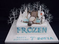 Frozen Cake Topper Olaf and Sven