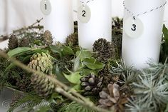 Advent Decoration with enamel tag numbers