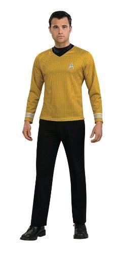 4b27778e8a99 Rubie's Star Trek Gold Star Fleet Uniform Shirt, Gold, Small Costume