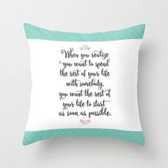 When Harry Met Sally Quote Throw Pillows - Pastel Decorative Pillows - Couch Pillows - Sofa Pillows - Romantic Quote