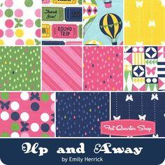 Up and Away Fat Quarter Bundle Emily Herrick for Michael Miller Fabrics - Fat Quarter Bundles    Fat Quarter Shop