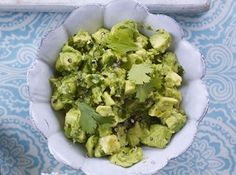 Chuncky avocado, a bit of chilli and a zesty kick cannot fail to make a fantastic guacamole, from BBC Good Food magazine. Bbc Good Food Recipes, New Recipes, Vegetarian Recipes, Cooking Recipes, Healthy Recipes, Yummy Recipes, Healthy Food, Recipies, Cucumber Avocado Salad