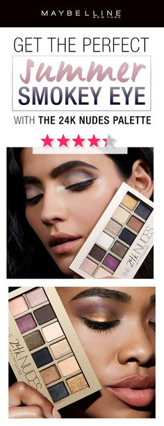 Who says you can't rock a smokey eye in the summer?  Our top rated 24K Nudes Eyeshadow Palette features gorgeous shimmering golden tones for the perfect summer smokey eye.  With a mix of both shimmer and matte eyeshadows, you can really customize your perfect summer makeup look.