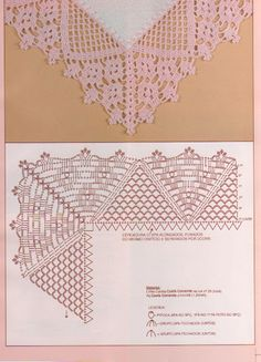 Lace Edging Crochet Patterns - Beautiful Crochet Patterns and Knitting Patterns Crochet Edging Patterns, Crochet Lace Edging, Crochet Motifs, Crochet Borders, Crochet Diagram, Lace Patterns, Crochet Chart, Crochet Designs, Crochet Doilies