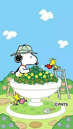 Gardening #Snoopy #Woodstock