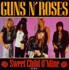 45cat - Guns N' Roses - Sweet Child O' Mine (Remix) / Out Ta Get Me (LP Version) - Geffen - UK - GEF 55