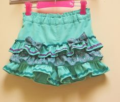 Silly Frilly Shorts Pattern, cute ruffled shorts for girls 1 - 10 yrs.   Felicity Sewing Patterns