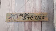Be you, be a unicorn sign handpainted on reclaimed wood,  measures approx 30 cm  I use various paints and stains to create unique effects on my signs so each is truly individual.  Please note as all of my upcycled pieces are made from reclaimed and vintage items you may see signs of wear and tear this does not affect the integrity of the piece and all adds to the charm of a bespoke upcycled piece of home decor, | Shop this product here: http://spreesy.com/forestfurnishings/104 | Shop all of…