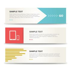 Minimalist Banners Vector Template