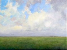 Original Oil Painting Modern Abstract Sky Cloud Field by JShears, $100.00
