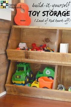 Great organizational solution for mudroom and toy room - DIY knockoff of the Storagepalooza from Land of Nod