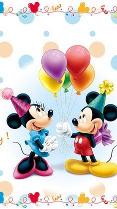 Vinil Decorativo Disney - Mickey and Minnie Birthday. Consulte Precios.