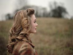 1940s look. lovely. - rehearsal dinner hair?
