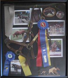I have most of my old horses halters. This would be a great thing to do with them.