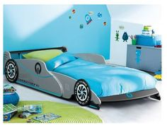 Kids Racing Race Car Bed