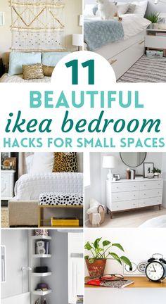 Home Decor Hacks, Cheap Home Decor, Diy Home Decor, Ikea Bedroom Furniture, Design Furniture, Bedroom Decor, Diy Projects For Bedroom, Bedroom Hacks, Ikea Hack Storage