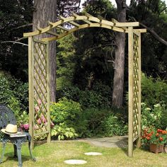 The Pembridge Wooden Garden Arch by Grange
