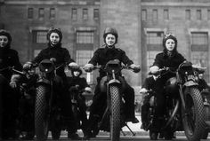 Vintage badassery I love this so much I pinned this twice.  I imagine these ladies were the outlaws of their neighborhoods.