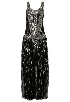 1920s style flapper or great gatsby dress: Frock and Frill FRANCESCA Maxi dress black