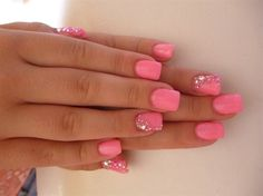 I love this pink, and the ring finger design.