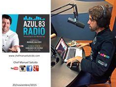 """ya extrañaba estar en cabina en """"Hablando de Cocina con Chef Manuel Salcido"""" por Azul TeCsn de Tecnológico de Monterrey Campus Sonora Norte!! buena vibra!!! #chefcms #azul83 #tecdemonterrey #radio #hermosillo"""