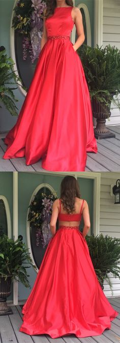 red long prom dress, 2017 long prom dress, formal evening dress, 2017 red long homecoming dress