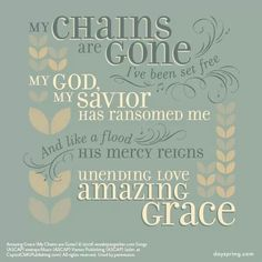 Jesus I sing for all that you've done for me. Worthy is the lamb who was slain. Worthy is the King who conquered the grave. This is amazing grace.