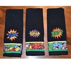 Super Hero Comic Book 3 Piece Kitchen Towel Set *** Read more reviews of the product by visiting the link on the image.Note:It is affiliate link to Amazon. #s4s
