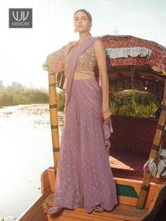 Rs4,100.00 Wedding Sarees Online, Crop Top Set, Palazzo Suit, Purple Fabric, Pakistani Suits, Salwar Kameez, Sharara Suit, Salwar Suits, Ethnic Fashion