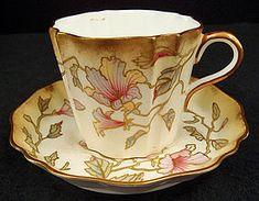 Antique Wedgwood Porcelain Tea Cup & Saucer