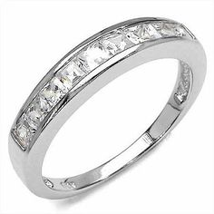 A simple yet elegant White Cubic Zircon .925 Sterling Silver Ring from Johareez