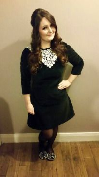 Victoria's velvet and lace Francoise dress