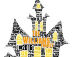 Personalized Halloween Word Clouds/ Word Art - Edit Listing - Etsy