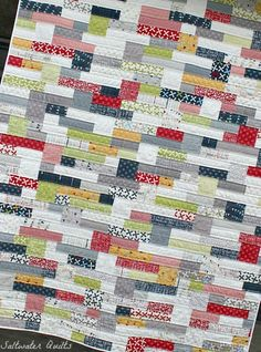 Double Stacked Reunion Quilt by Saltwater Quilts, via Flickr