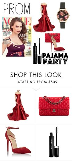 """""""P&P"""" by begicdamir ❤ liked on Polyvore featuring Monique Lhuillier, Chanel, Christian Louboutin, Marc Jacobs and Olivia Burton"""