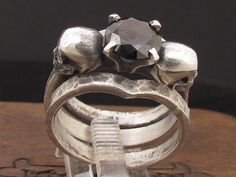 Hey, I found this really awesome Etsy listing at https://www.etsy.com/listing/239351133/mysacrum-skull-ring-engagement