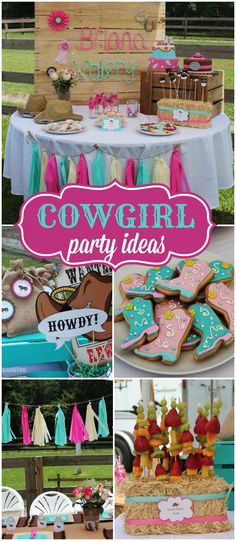 Grab your boots, saddle up and check out this cowgirl party! See more party ideas at CatchMyParty.com!