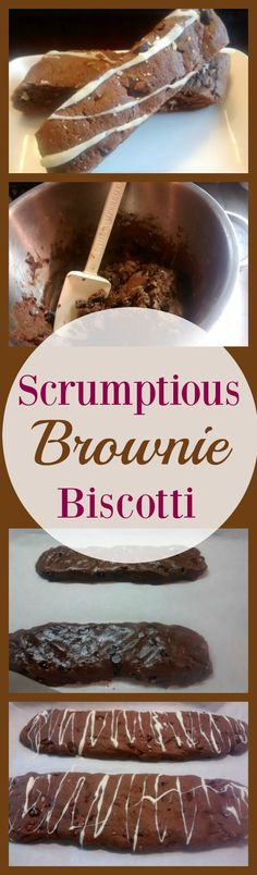 Brownie Biscotti A chocolate biscotti recipe This one is very easy to prepare and it makes a ton making it perfect for cookie swaps Find the recipe and 13 days of cookies. Brownie Cookies, Biscotti Cookies, No Bake Brownies, Cookie Desserts, Cookie Recipes, Dessert Recipes, Baking Brownies, Almond Cookies, Biscotti Flavors