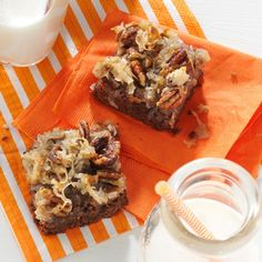 German Chocolate Brownies Recipe -Even as a young girl, I was always going…