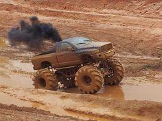 Dodge mud truck