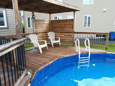 Above Ground Pool Decks, In Ground Pools, Patio Ideas, Backyard Ideas, Backyard Makeover, Tupperware, Backyard Patio, Porches, Garden Landscaping
