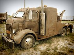 .Ford COE wrecker with sleeper.