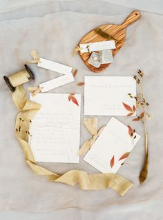 Fall Leaves Wedding Invitation | Sally Pinera Photography | http://heyweddinglady.com/chic-fall-wedding-colors-red-brick-ivy/